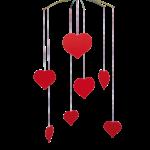 Flensted mobile décoratif décoration intérieur cœurs