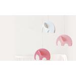 Flensted mobile décoratif décoration enfant éléphant rose