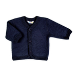 joha cardigan laine brossée bleu marine