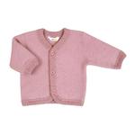 joha cardigan laine brossée rose