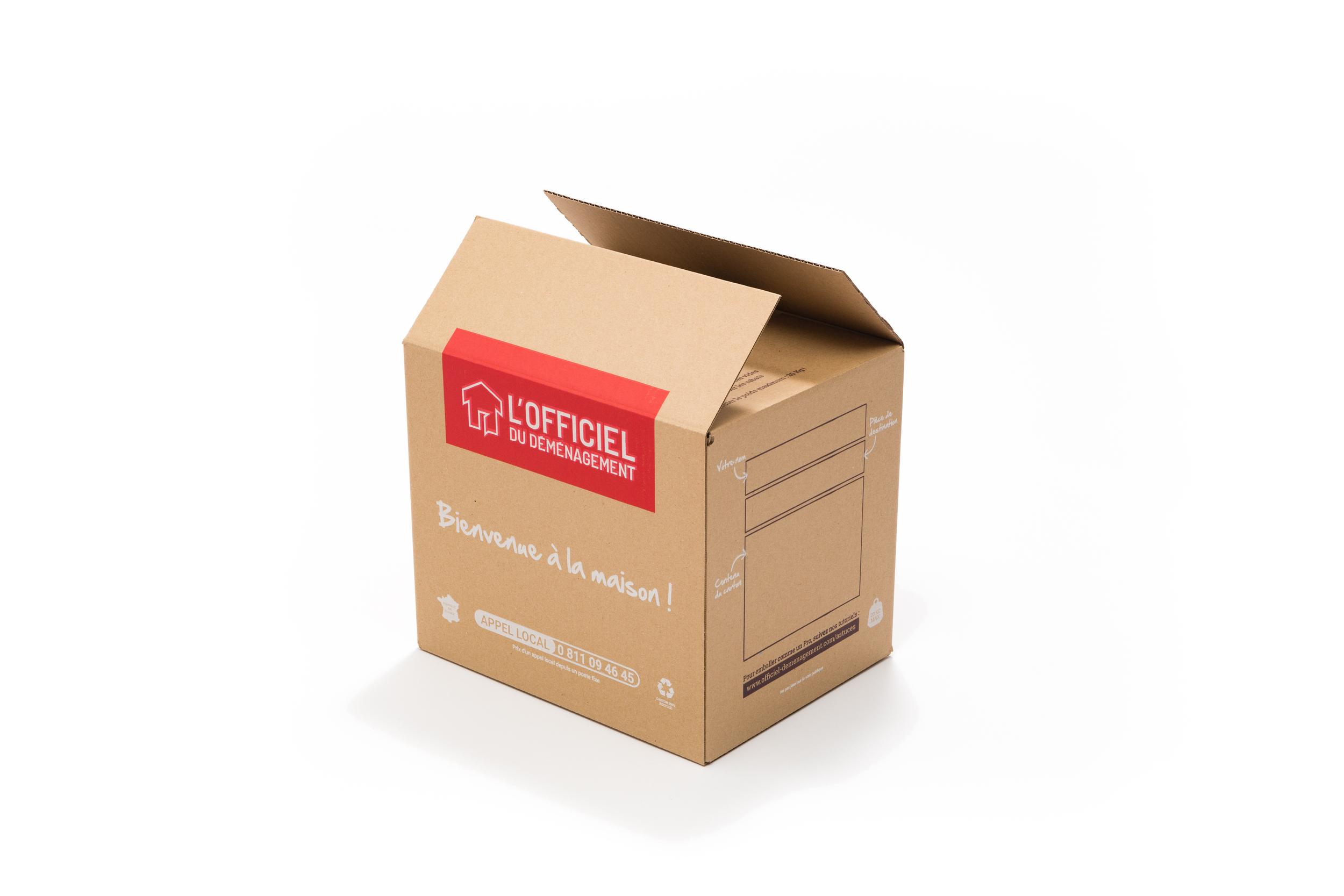 2-ondulés BC 1 St Livres Cartons//Déménagement cartons fortement et maniable 500x350x370