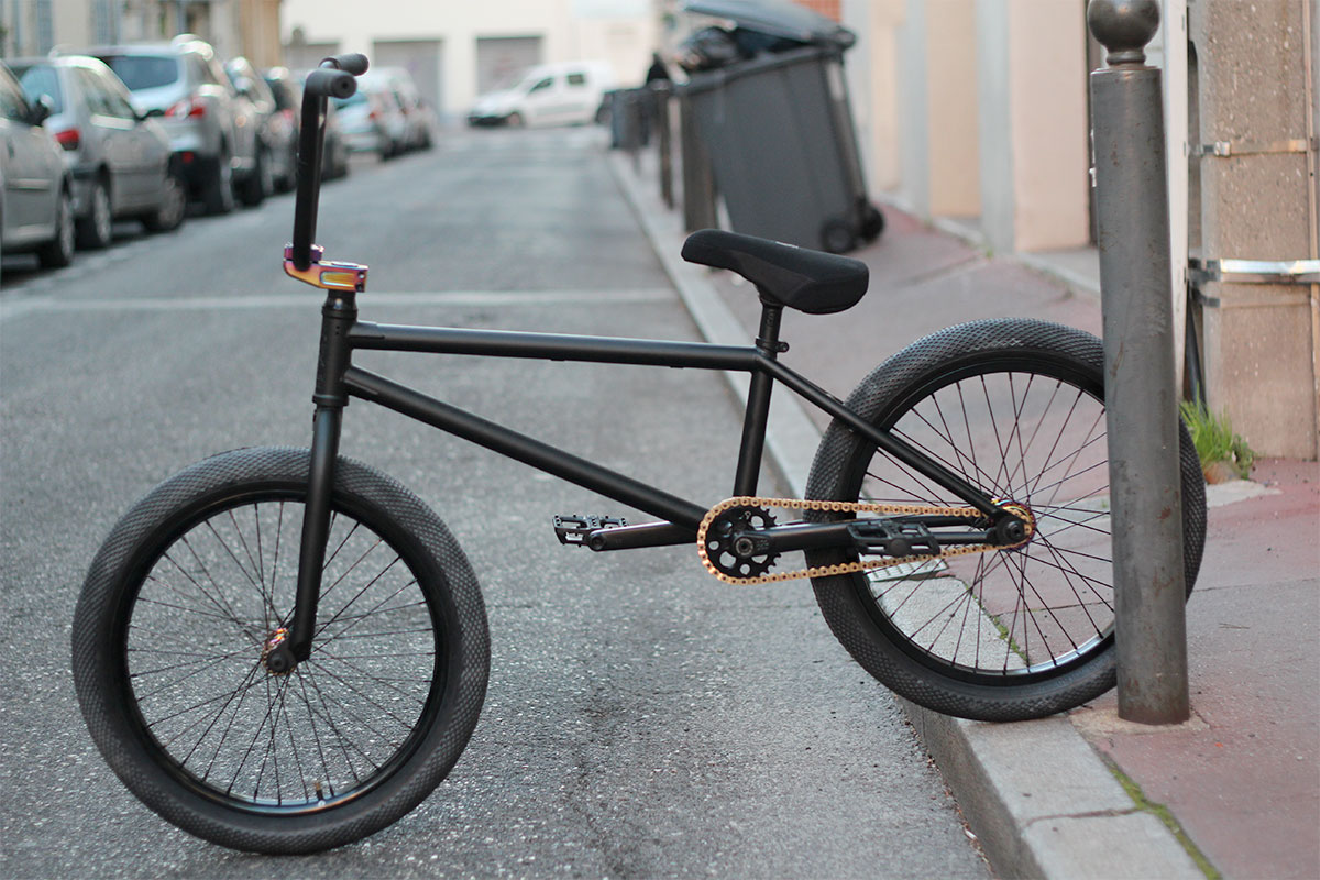 Bmx custom STRESS black/oil slick