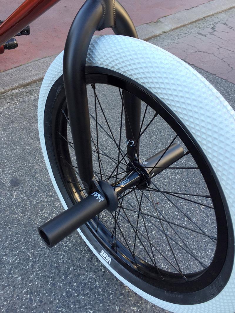 roue bmx orange