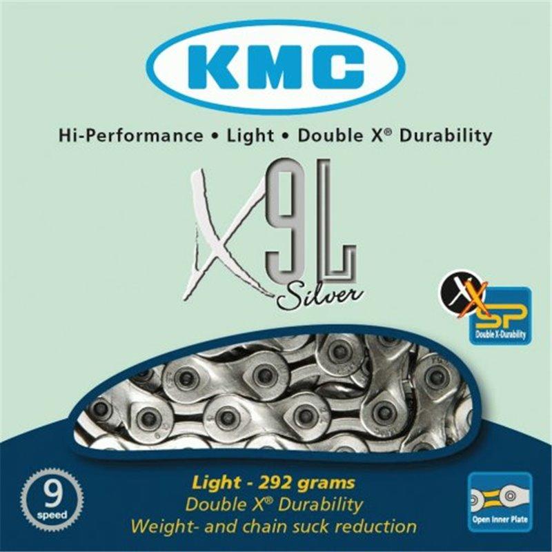 Chaine KMC X9L 3/32 9 speed