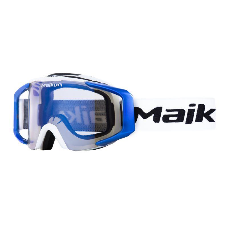 Masque MAIKUN Arrow White - Ecran Iridium blue