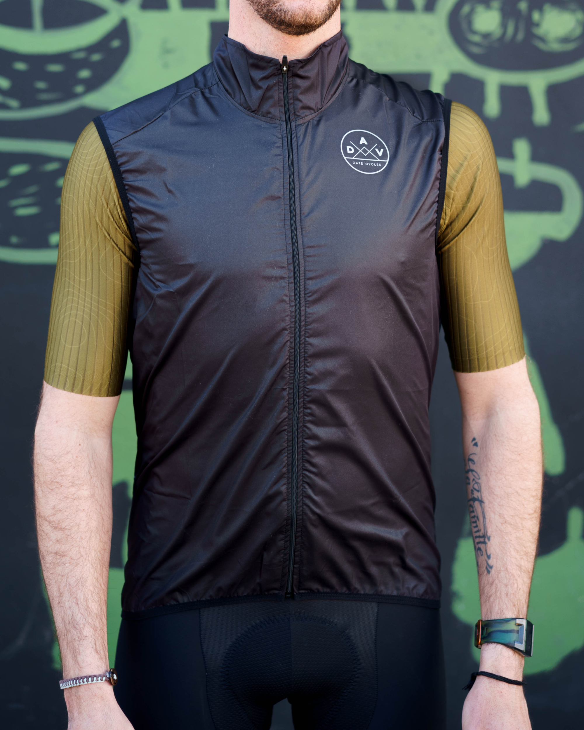 Gilet AVENUE DU VELO Windflex black