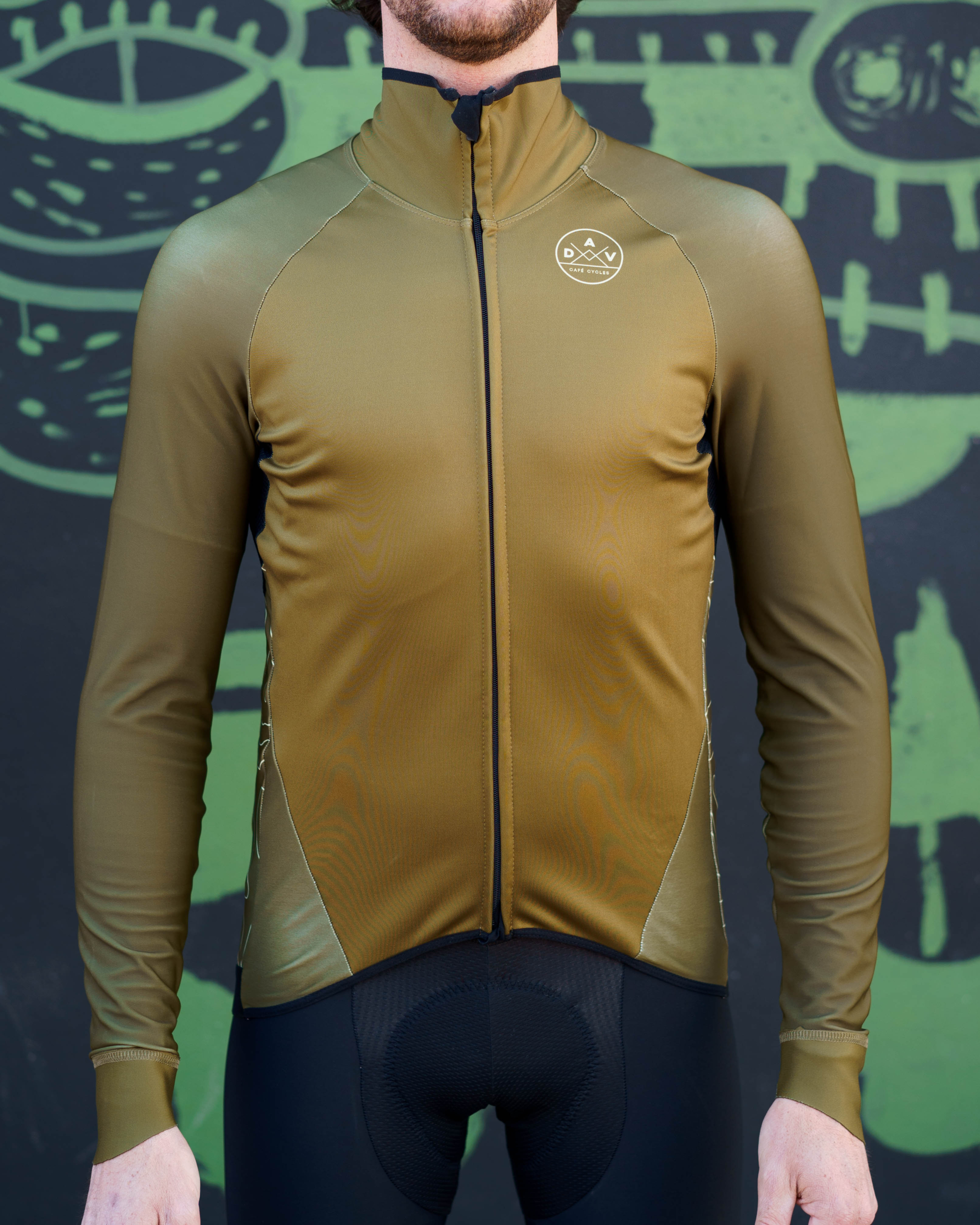 Maillot AVENUE DU VELO manches longues green