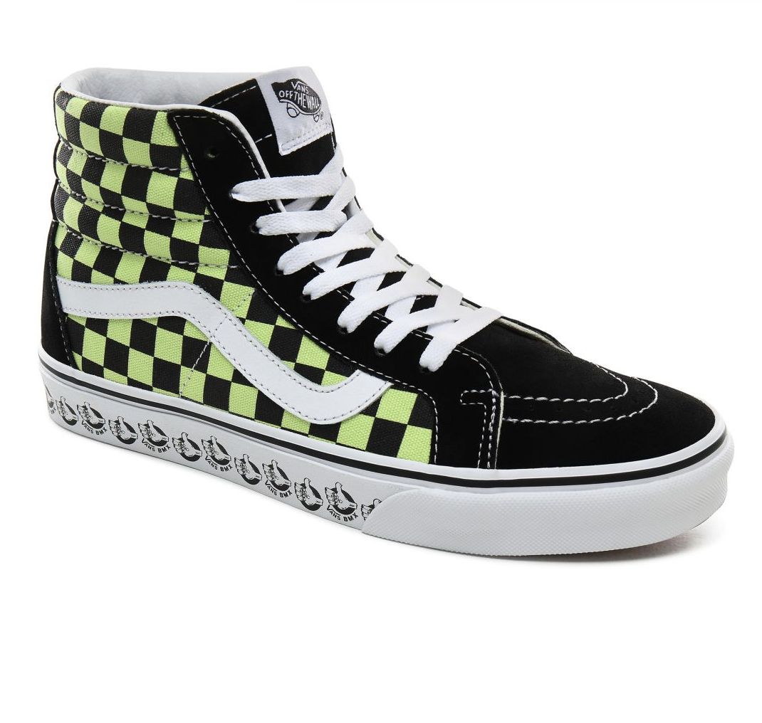 Shoes VANS SK8-HI Reissue (Vans BMX) Black/Sharp Green