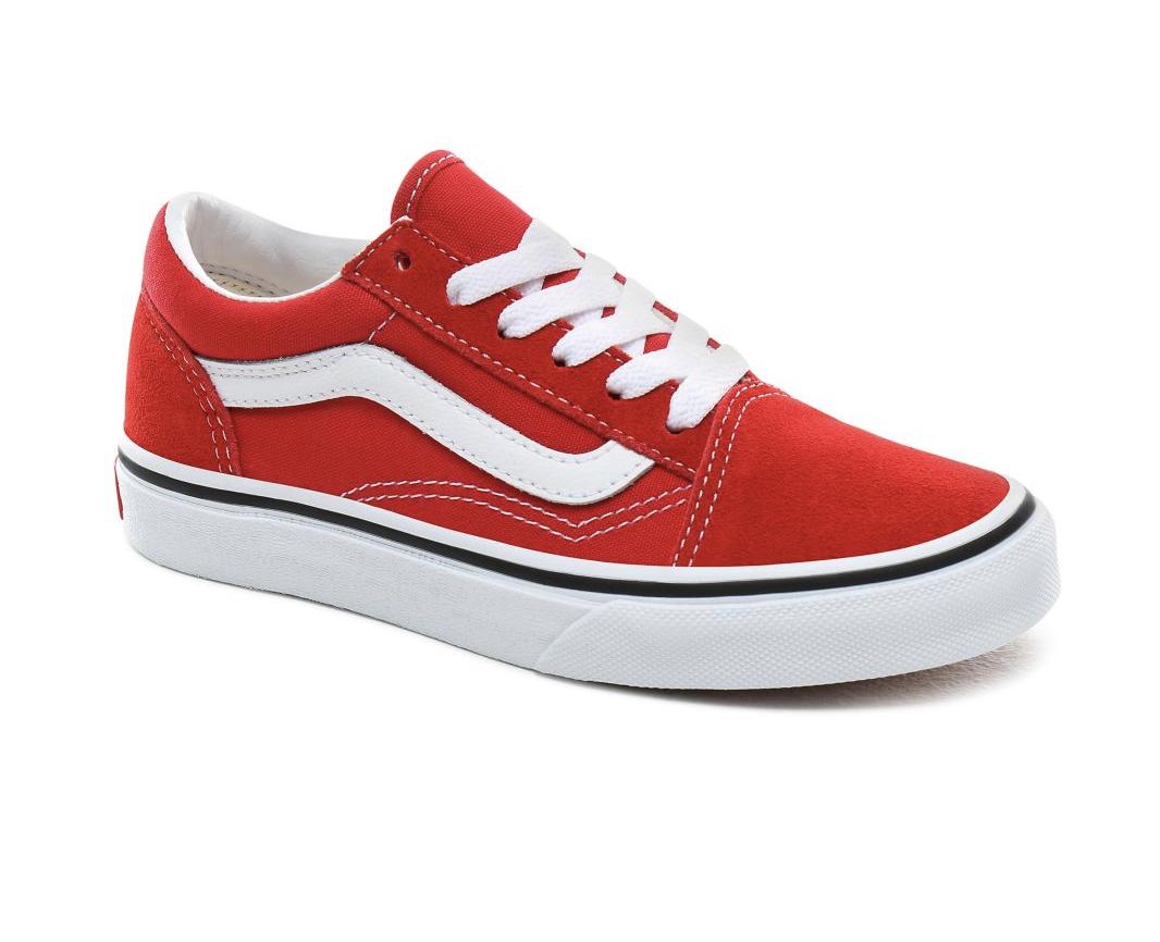 Shoes VANS Old Skool Racing Red/True White Junior