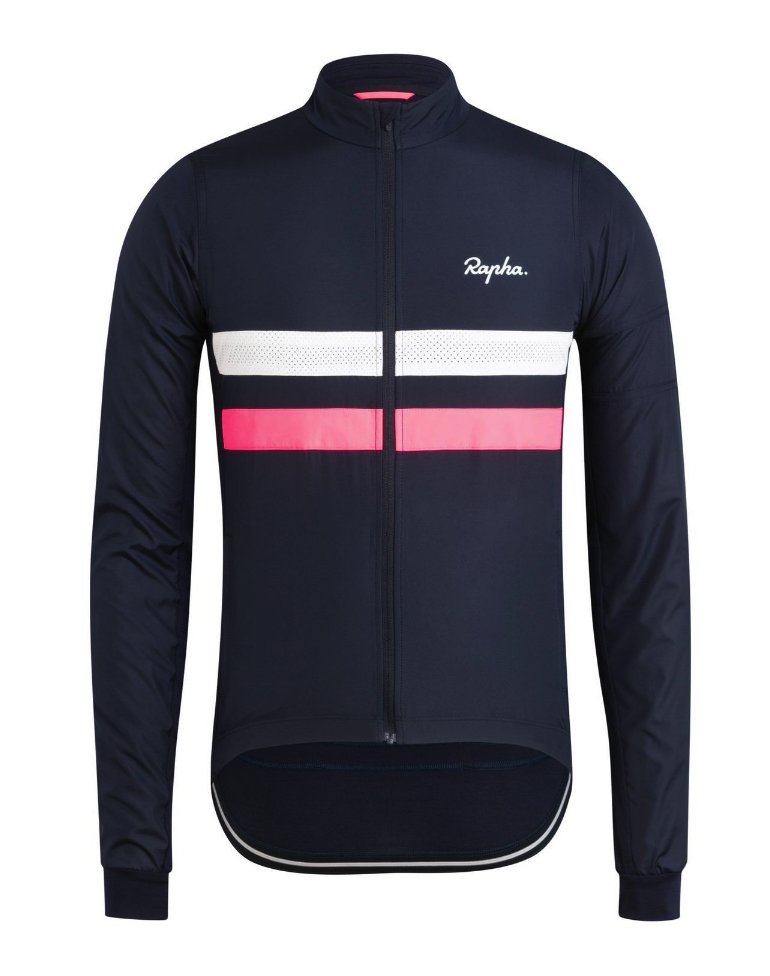 MAILLOT RAPHA BREVET LONG SLEEVE WINDBLOCK JERSEY DARK NAVY