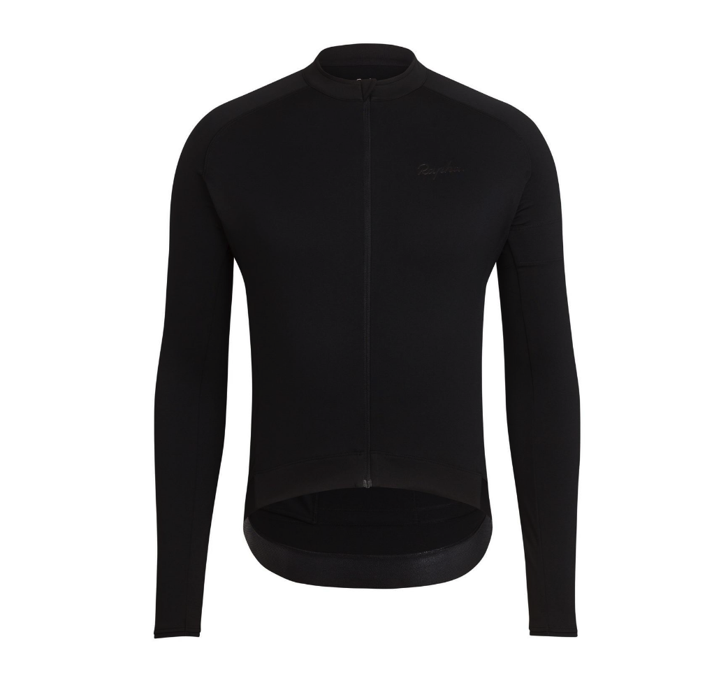 MAILLOT RAPHA CORE JERSEY LONG SLEEVE BLACK