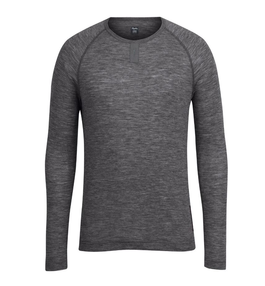 SOUS COUCHE RAPHA MERINOS BASE LAYER LONG SLEEVE GREY