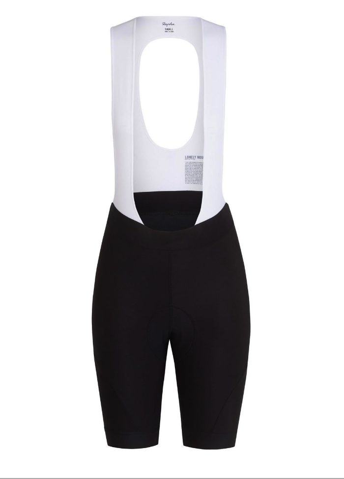 CUISSARD RAPHA FEMME CORE BIB SHORTS BLACK WHITE