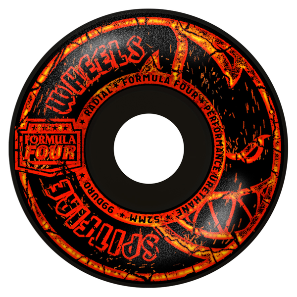ROUES SPITFIRE 52mm F4 99D EMBERS RADIAL BLACK