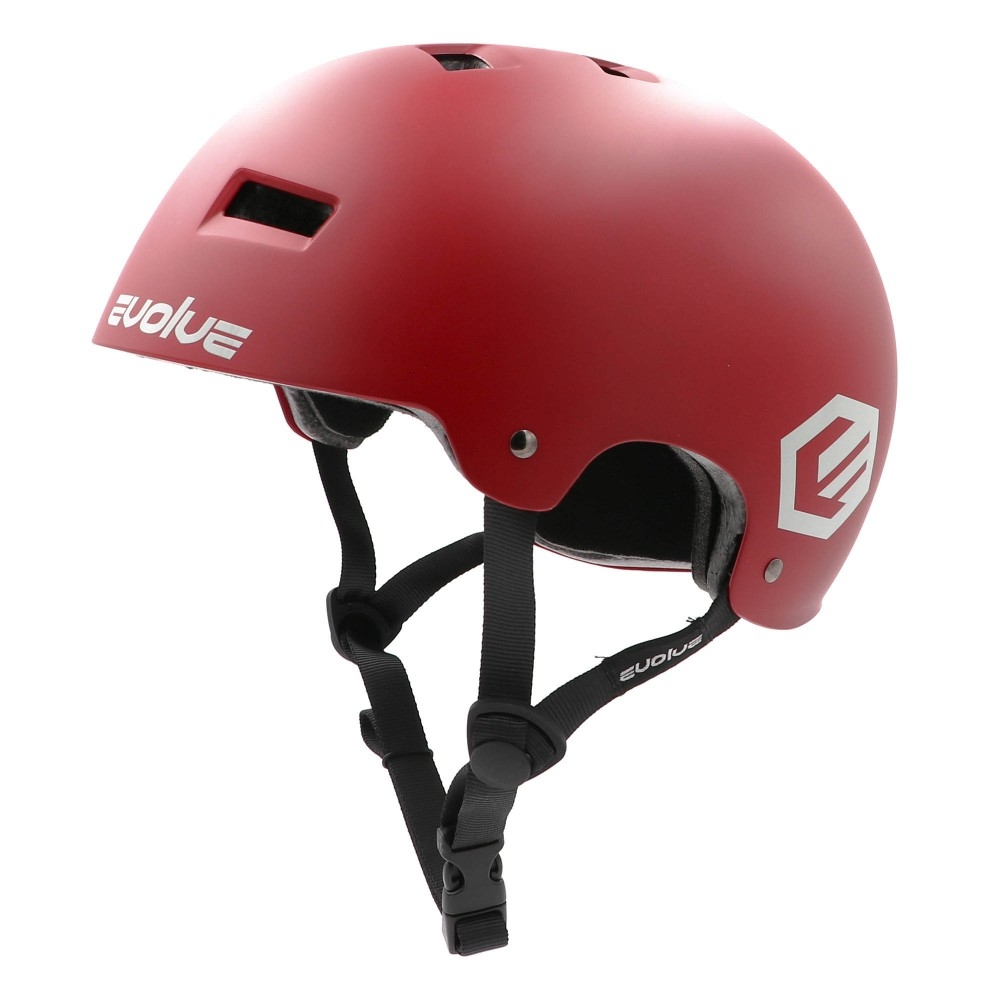 CASQUE EVOLVE CURB - MATT BURGUNDY