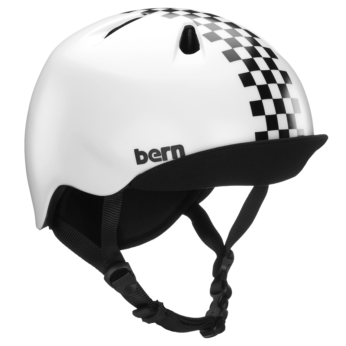 CASQUE BERN NINO BLACK CHECKERS