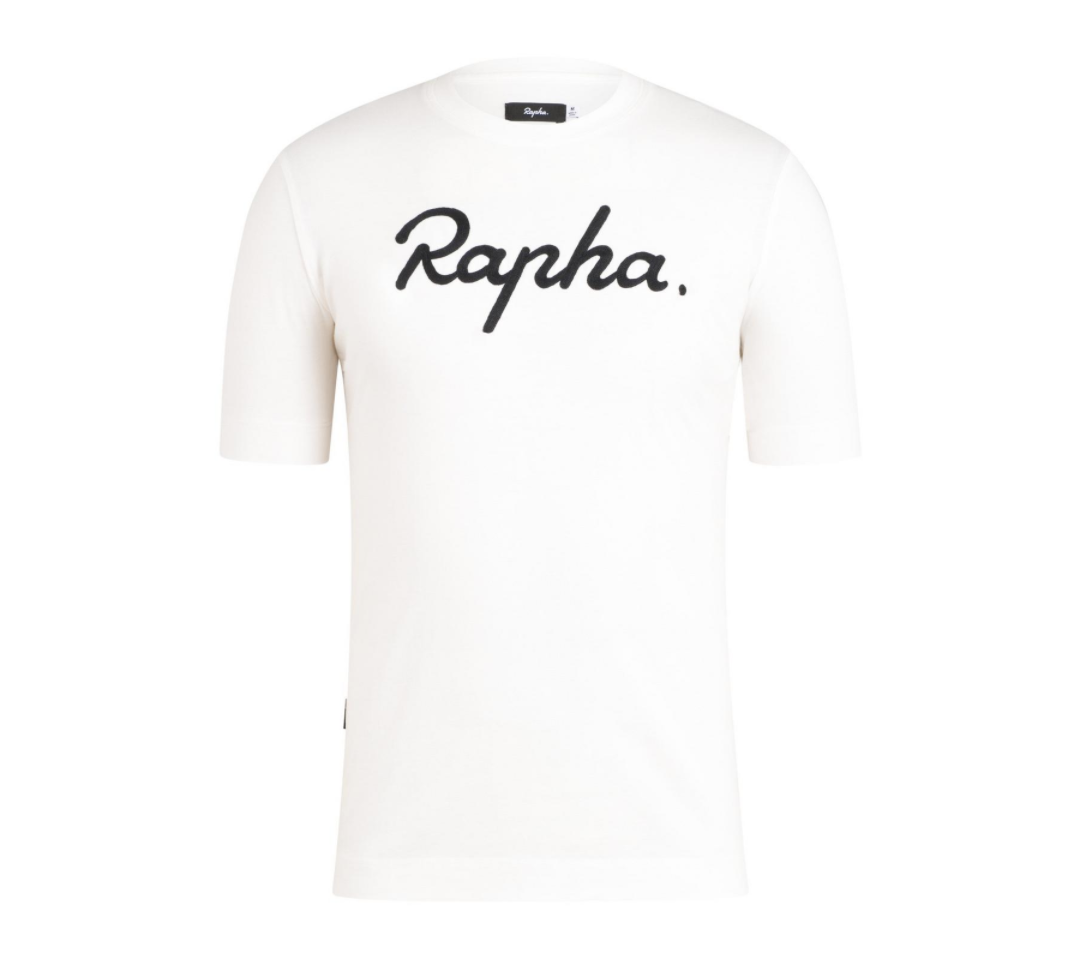 TEE SHIRT RAPHA LOGO BLANC/BLACK