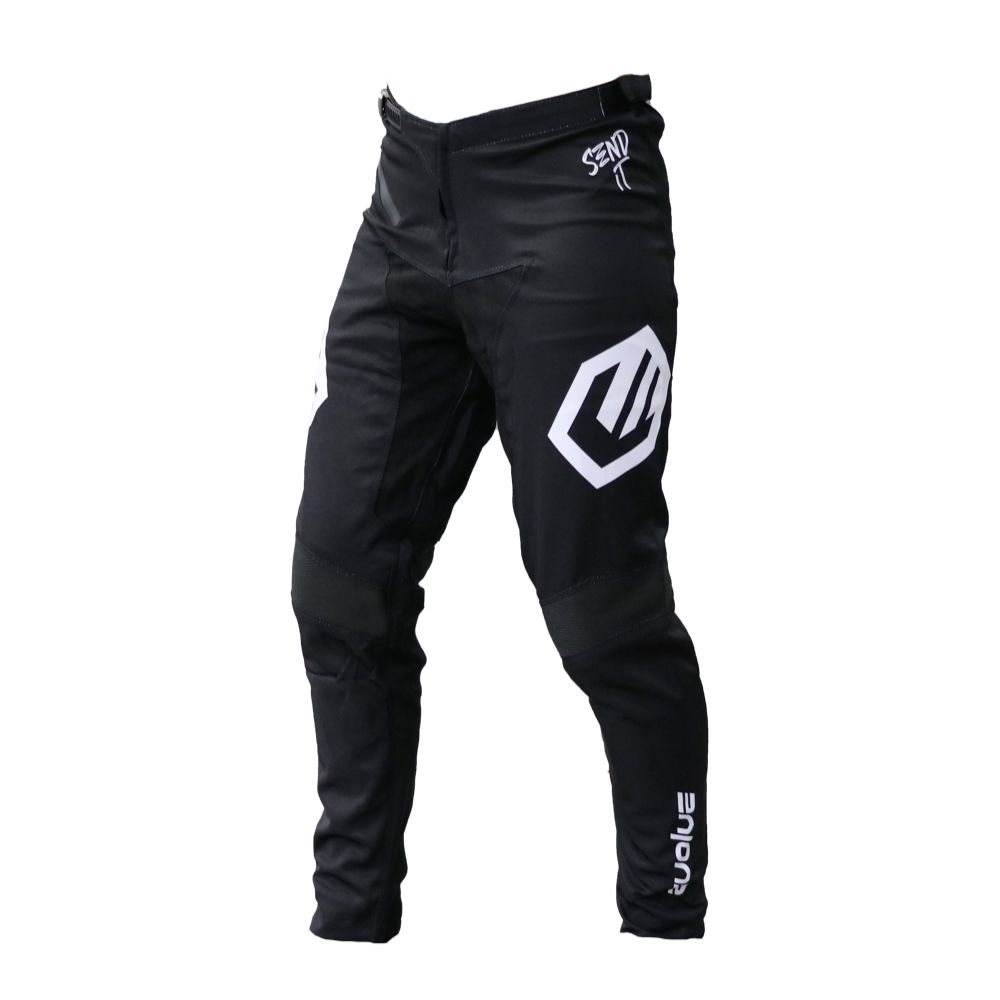 PANTALON EVOLVE SEND IT BLACK/WHITE JUNIOR