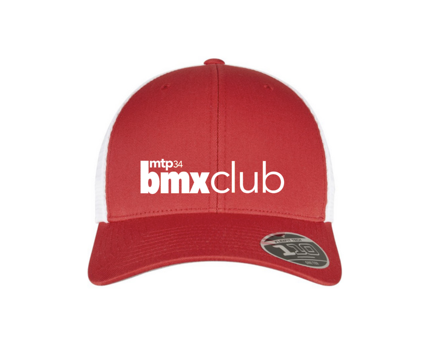 CASQUETTE MTPBMX RIDE UK FITTED SNAP RED/WHITE