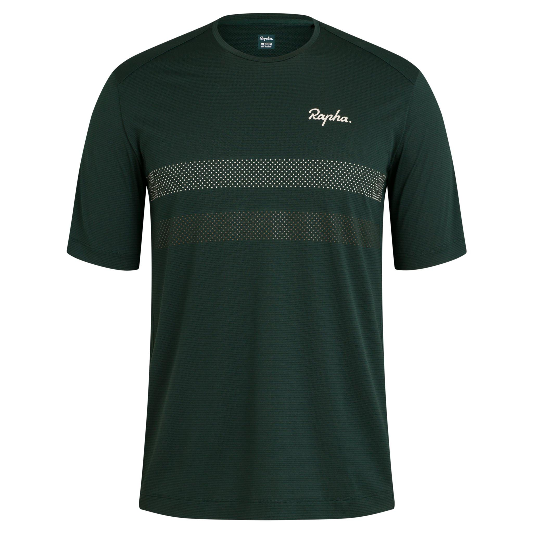 TEE SHIRT RAPHA TECHNICAL EXPLORE VERT FONCE