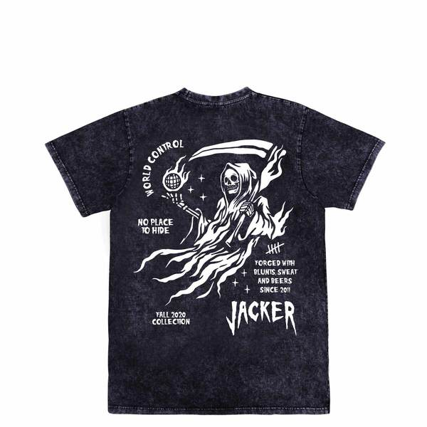 TEE SHIRT JACKER NO PLACE STONEWASH GREY