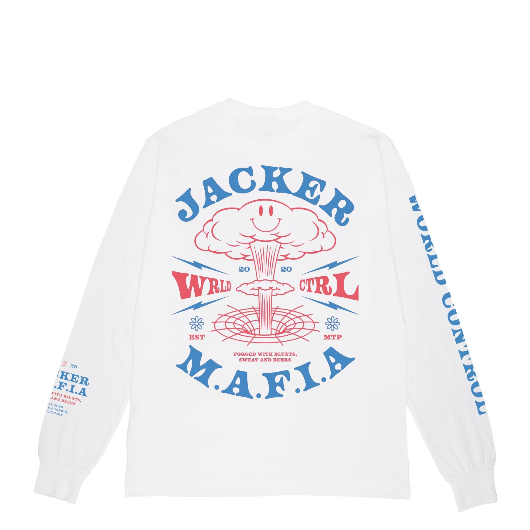TEE SHIRT JACKER LONG SLEEVES NUCLEAR WHITE