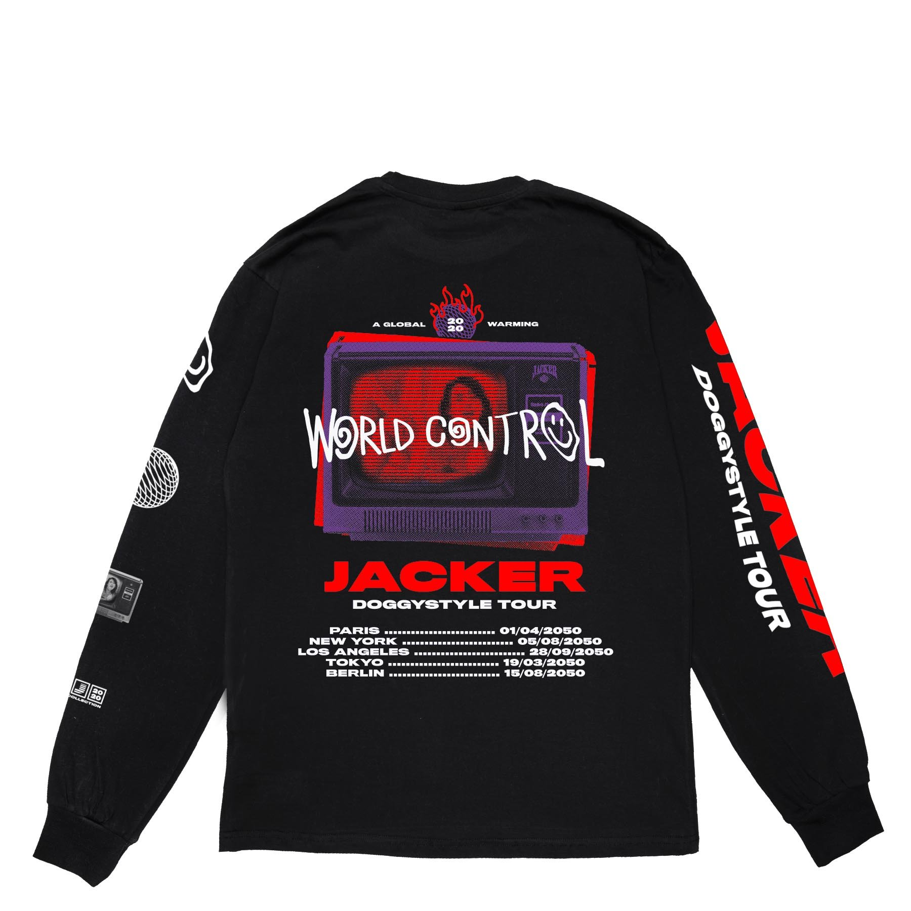 TEE SHIRT JACKER LONG SLEEVES WORLD TOUR
