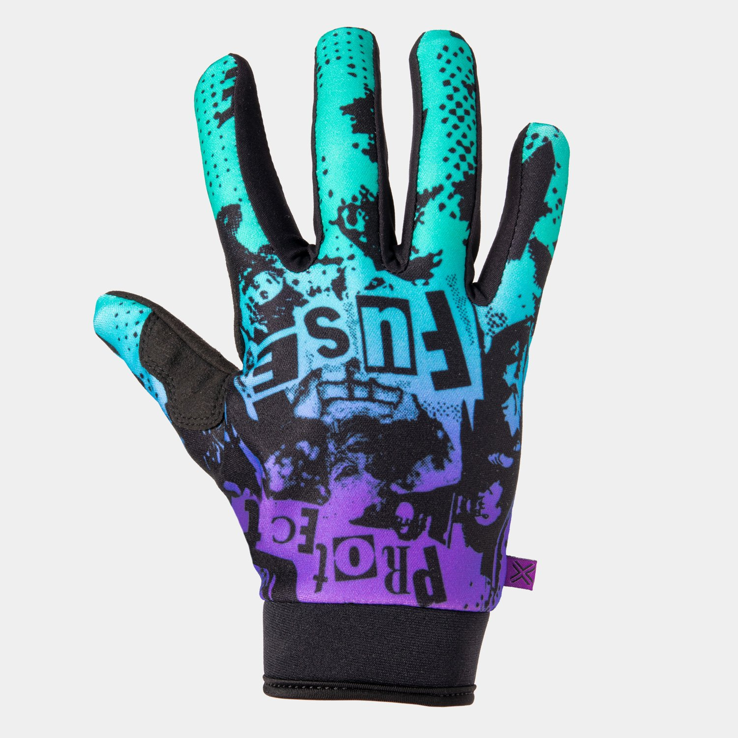 GANTS FUSE CHROMA SHRED PURPLE/TEAL