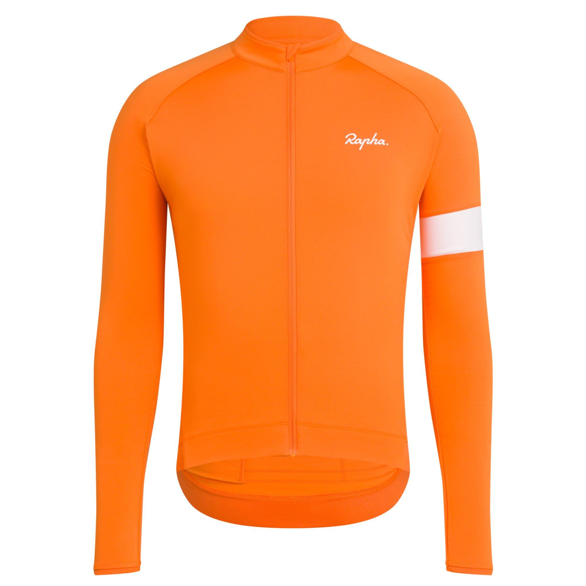MAILLOT RAPHA CORE LONG SLEEVE BRIGHT ORANGE