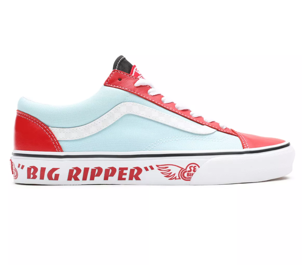 SHOES VANS SE BIKES X STYLE 36 BIG RIPPER/RED/PLUME/REFLECTIVE