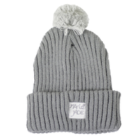 Bonnet MARIE JADE pompom grey heather grey/white