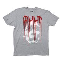 Tee shirt CULT Face Drip Logo grey