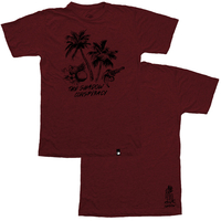 Tee shirt SHADOW Nature VS Nuture burgundy
