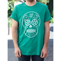 Tee shirt BMX AVENUE Skull green