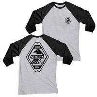 Tee shirt SHADOW Arcane 3/4 grey/black