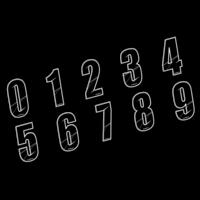 Numéro de plaque MAIKUN 8cm black