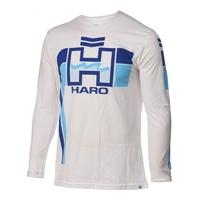 Tee shirt HARO retro ML white/blue