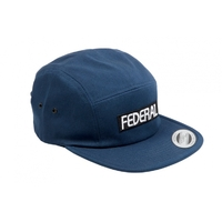 Casquette FEDERAL Patch logo 5 panels navy