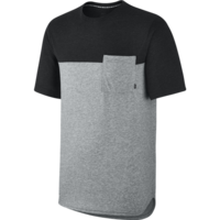 Tee shirt NIKE SB Blocked pocket grey/black