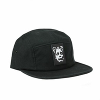 Casquette CULT 5 panels leather face camper black
