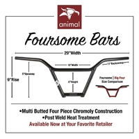 Guidon ANIMAL Foursome 4pc 9""