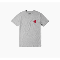 Tee shirt ETNIES Mini Icon grey heather/red