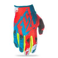 Gants FLY RACING Kinetic teal/red/hi-vision 2017