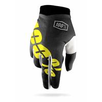 Gants 100% iTrack black neon yellow