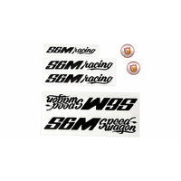 Stickers S&M Speed Wagon pack black ou white