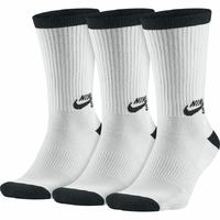 Chaussettes NIKE SB 3PPK white/black (pack de 3 paires)