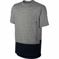 Tee shirt NIKE SB DK grey heather/obsidian