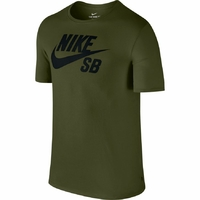 Tee shirt NIKE SB Logo legion green/black