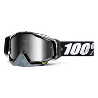 Masque 100% Racecraft Abyss black - Ecran miroir argent