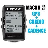 GPS LEZYNE Macro HRSC + Cardio + cadence